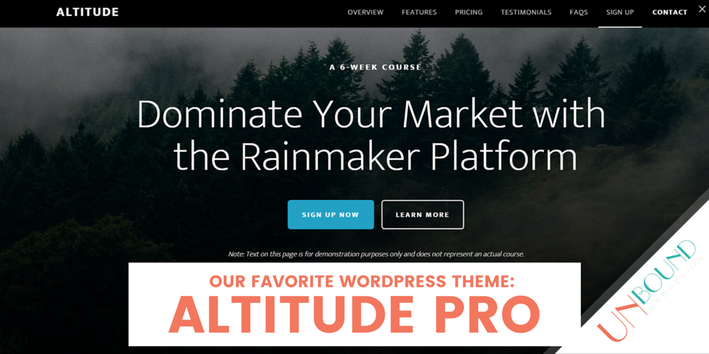 Take Your Aim Higher With Altitude Pro Theme